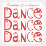 Pegatinas de la danza de la danza de la danza (cua