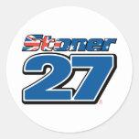 Pegatinas de la deshuesadora #27 etiqueta redonda