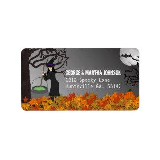 Pegatinas de la dirección de Halloween de la noche Etiqueta De Dirección