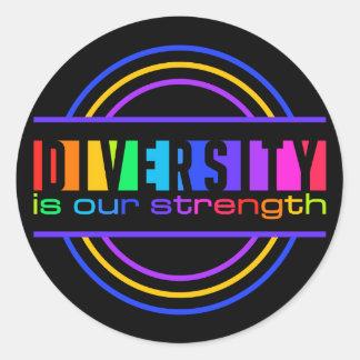 Pegatinas de la diversidad pegatina redonda