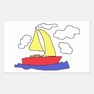 pegatinas de la diversión del barco rectangular altavoz
