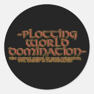 Pegatinas de la dominación del mundo del trazado