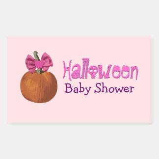Pegatinas de la ducha de la niña de Halloween Pegatina Rectangular