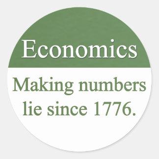 Pegatinas de la economía etiquetas redondas
