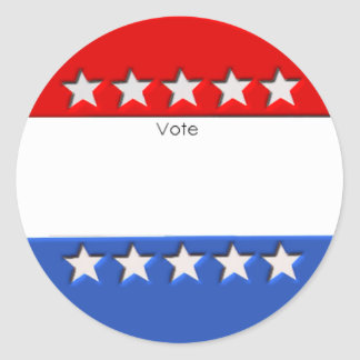 Pegatinas de la elección pegatina redonda