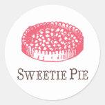Pegatinas de la empanada del Sweetie Etiqueta Redonda