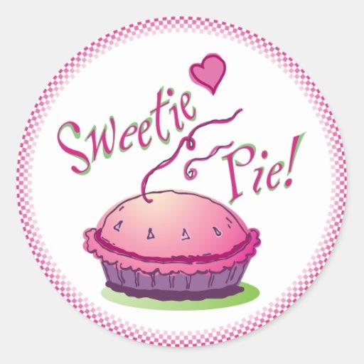 Pegatinas de la empanada del Sweetie Pegatina Redonda