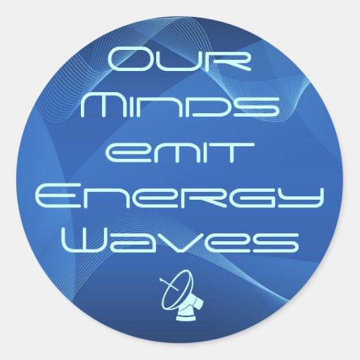 pegatinas de la energía de la mente pegatina redonda