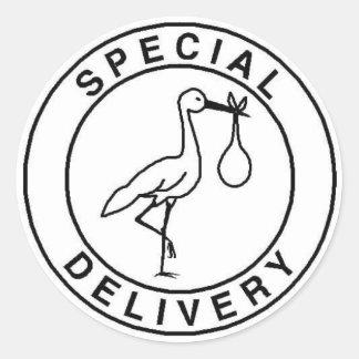 Pegatinas de la entrega especial pegatina redonda