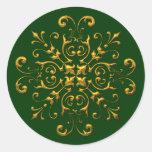Pegatinas de la escama del oro de la apariencia pegatina redonda