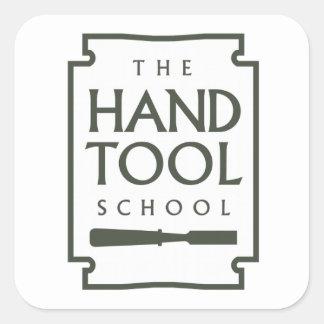 Pegatinas de la escuela de la herramienta de mano calcomanías cuadradas