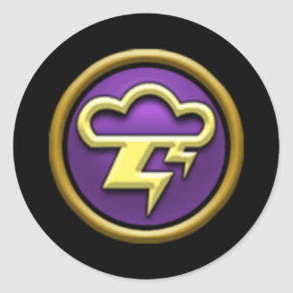 Pegatinas de la escuela de la tormenta Wizard101 Etiqueta Redonda