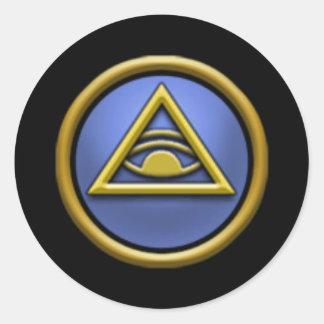 Pegatinas de la escuela del mito Wizard101 Etiquetas Redondas