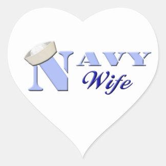 Pegatinas de la esposa de la marina de guerra