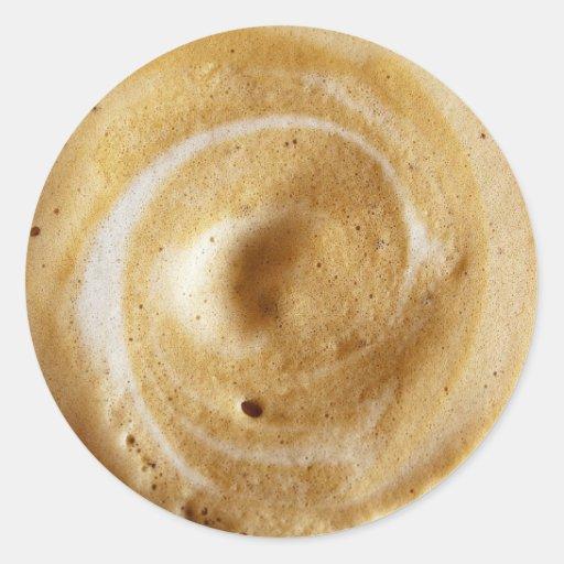 Pegatinas de la espuma del café pegatina redonda