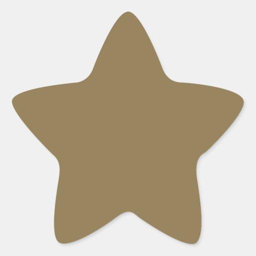 Pegatinas de la estrella calcomanía cuadrada