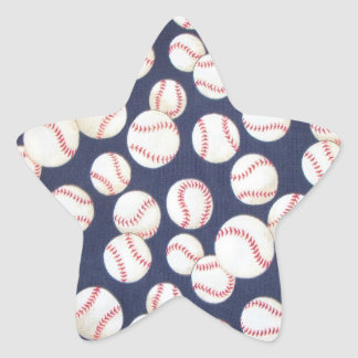 Pegatinas de la estrella de béisbol pegatina en forma de estrella