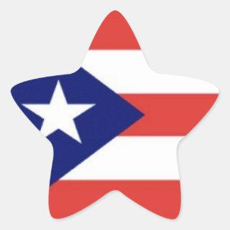 Pegatinas de la estrella de la bandera de Puerto Calcomanías Forma De Estrellas Personalizadas