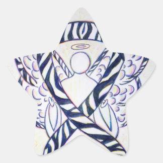 Pegatinas de la estrella del ángel de la cinta de pegatina en forma de estrella