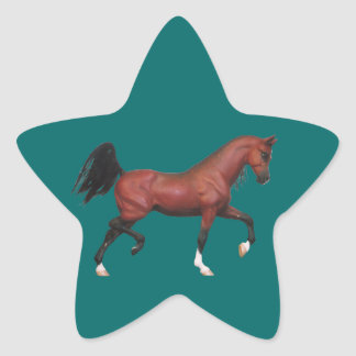 Pegatinas de la estrella del arte del semental de colcomanias forma de estrella