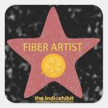 Pegatinas de la estrella del artista de la fibra pegatina cuadrada