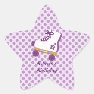 Pegatinas de la estrella del cumpleaños del patín pegatina en forma de estrella