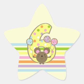 Pegatinas de la estrella del cumpleaños del pegatina en forma de estrella