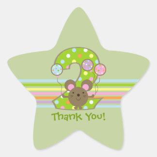 Pegatinas de la estrella del cumpleaños del verde