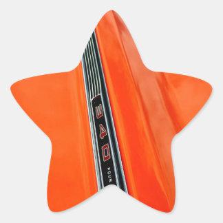 Pegatinas de la estrella del dardo de Dodge Pegatina En Forma De Estrella