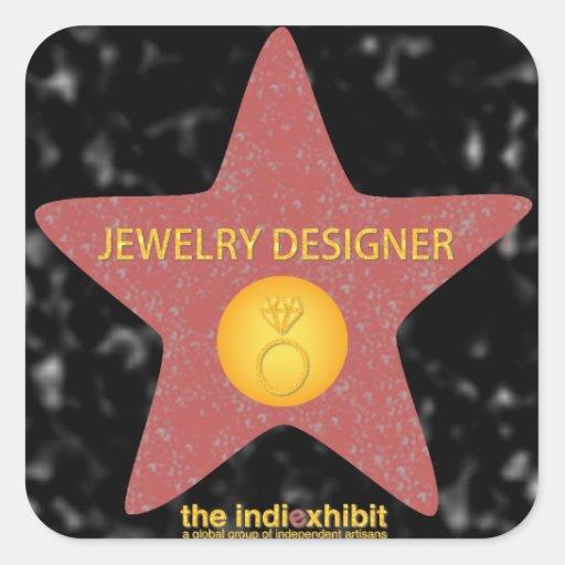 Pegatinas de la estrella del diseñador de la pegatina cuadrada