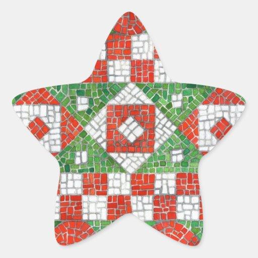 Pegatinas de la estrella del mosaico del día de pegatina en forma de estrella
