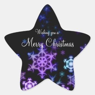 Pegatinas de la estrella del navidad calcomanias forma de estrella