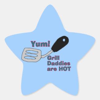 pegatinas de la estrella del papá de la parrilla pegatina en forma de estrella