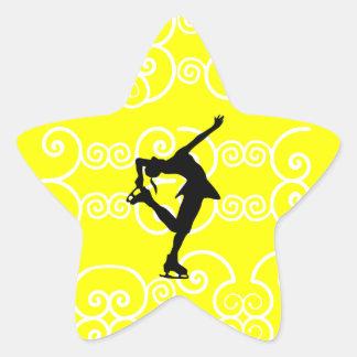 Pegatinas de la estrella del patinaje artístico calcomanía forma de estrella personalizadas