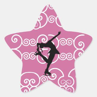 Pegatinas de la estrella del patinaje artístico pegatina en forma de estrella