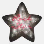 Pegatinas de la estrella del rock pegatinas forma de estrella
