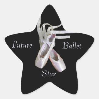 "Pegatinas ""de la estrella futura del ballet"" pegatina en forma de estrella"