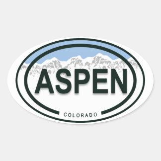 Pegatinas de la etiqueta de la montaña de Aspen