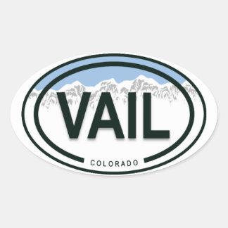 Pegatinas de la etiqueta de la montaña de Vail