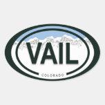 Pegatinas de la etiqueta de la montaña de Vail Col