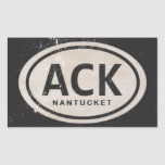 Pegatinas de la etiqueta de la playa del ACK
