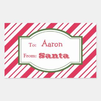 Pegatinas de la etiqueta del regalo de Santa