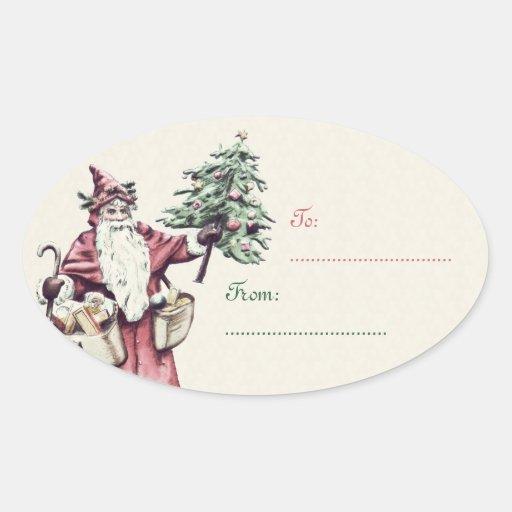 Pegatinas de la etiqueta del regalo del navidad de