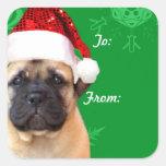 Pegatinas de la etiqueta del regalo del perrito