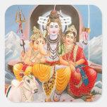 Pegatinas de la familia de Shiva Pegatina Cuadrada