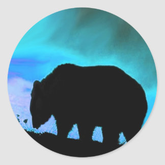 Pegatinas de la fauna de los animales salvajes del pegatina redonda