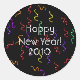 Pegatinas de la Feliz Año Nuevo Pegatina Redonda