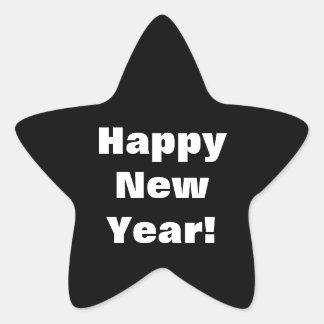Pegatinas de la Feliz Año Nuevo Pegatina En Forma De Estrella