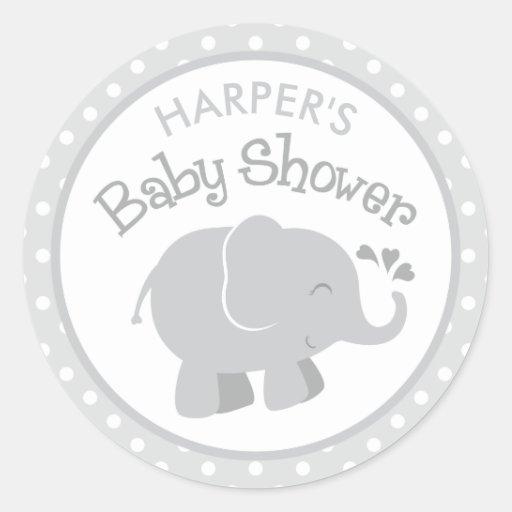 Pegatinas de la fiesta de bienvenida al bebé del etiquetas redondas
