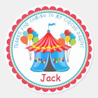 Pegatinas de la fiesta de cumpleaños del carnaval etiquetas redondas